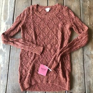 Pumpkin colored sweater xs